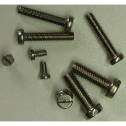 RVS cilinderkop zaagsleuf DIN 84